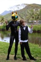 Celty and Shizuo Cosplay by Elleon12