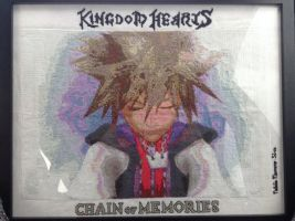 Sora Cross stitch Chain of Memories by DarkRhia