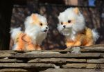 Poseable Toy Commission couple  Arcanine by MalinaToys