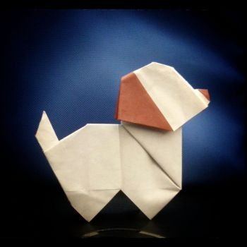 Cute origami puppy by HikaruLychee7