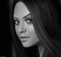 Female Study XI (Mila Kunis) by RobbieMcSweeney