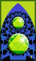 Green marbles and triangles by theaver