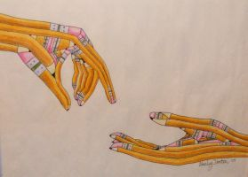 Pencil Hands by Sofera