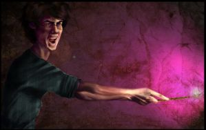 Harry Using Crucio by Silvaticus