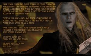 Prince Nuada - Four Years by GabbyLeithsceal