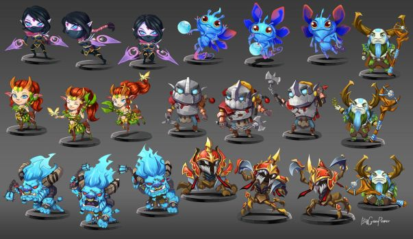 dota2 chibi by biggreenpepper