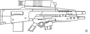 XM-29 OICW Lineart by 96blackarrow