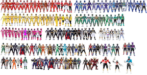 Power Rangers Collage (MMPR-Super Megaforce) by AdrenalineRush1996
