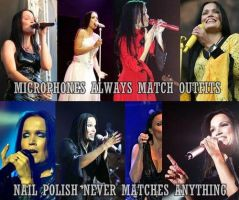 Tarja's Microphones and Nailpolishes by CrazyEvilGirlie