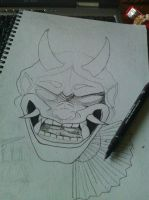 Hannya wip by deadhorseart