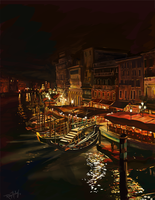 Venice at night by AstroRobyn