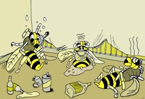 wasted wasps by wookieebasher