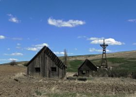 Barn and Pumphouse by TRunna