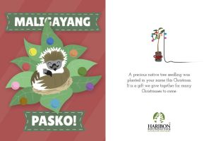 Chrismas E-card: Philippine Eagle Nest by Filipeanuts