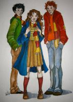Three Gryffindors by jenimal