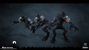 Werewolf Character by PsycoPink