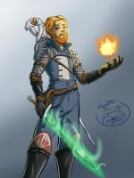 Commission - Dragon Age Character by Kuurion