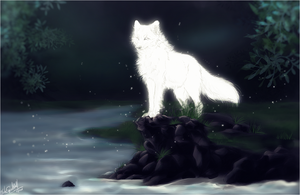 .:WhiteGhostWolf:. by WhiteSpiritWolf