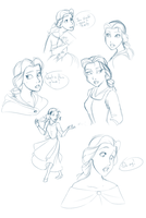 Belle Doodles by kure-chanih