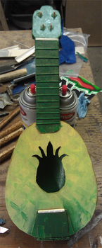 Cardboard Pineapple Uke by Heros-Shadow