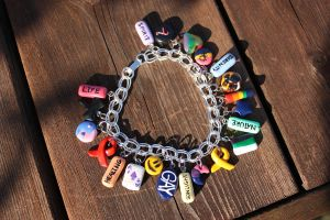 LGBT Charm Bracelet by thousandleaf0001