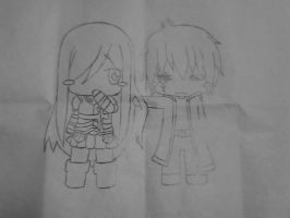 Chibi erza and jellal by kevinsky17
