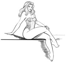 Another Swimsuit Doodle by em-scribbles