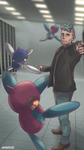Day 530 - Porygon-Z and Cassius by AutobotTesla