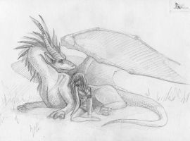 troubled slumber by NikaTheDragon
