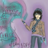 Staying Strange: Happy Birthday Strangelavender! by ChewyKookie