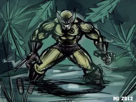 Wolverine in swamp by crow110696