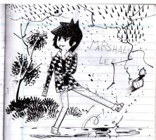 Marshall in the Rain by Kuurai