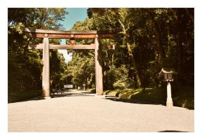 Meiji Shrine Tori by sacadura