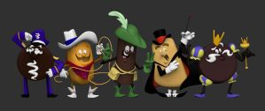 Hostess Characters by shalonpalmer