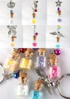 MLP bottle keychains v2 by FrozenNote