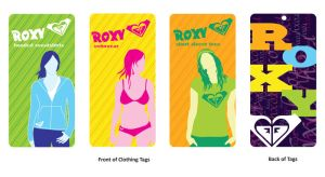 Roxy Clothing Tags by DrkSideofLuna