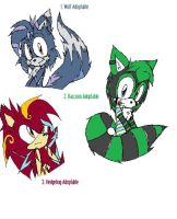 Adoptables: Sonic Characters by rawr39