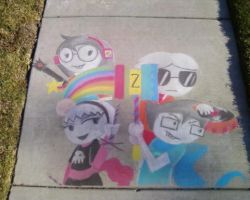 Homestuck Chalk Drawing by SnaxAttacks