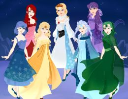 Zelda A link to the past Seven maidens by BlazingTyphlosion