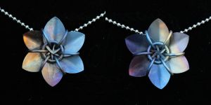 Anodized Titanium Scale Flowers by Ichi-Black