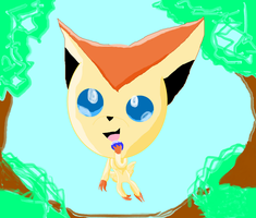 VICTINI Made and shaded in paint by ShadowUkelover