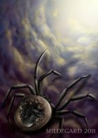 Spider and baby by Mildegard