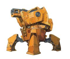 'Fortius' mining mech from the Baxter Mining Corp by rocketben