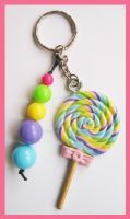 Lollipop Keychain by cherryboop