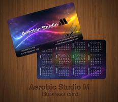 Aerobic Studio M Buisness Card by atanastsvetkov