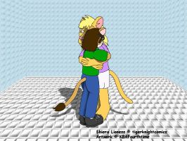 Me Hugging Shiera by KBAFourthtime