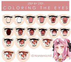 Step by Step: Coloring the Eyes ( Style 1 ) by Nanamichiii
