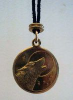 Wolf Medallion - Front by dogboy09