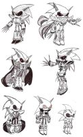 Metal Sonic concepts by Fox-Gungrave