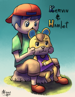 [COMMISSION] Kervin and Hamlet by Konamon